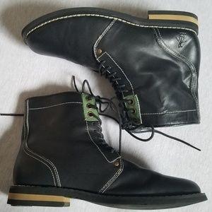 Original Penguin Jerry Jeff Lace Up Boots Black 8